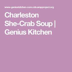 Charleston She-Crab Soup | Genius Kitchen