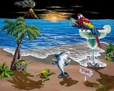 Key to Paradise Giclee' Limited Editions available at the Michael Godard Art Gallery inside the Rio Hotel 702-363-4278 Mention you saw this on Pinterest!