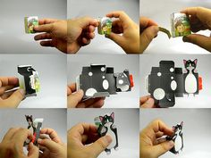 Stafidenios:  kids package that can be converted into a paper toy without the use of glue, blade cutter and scissors.