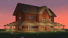 MINECRAFT: How to build 2-room wooden house #2 - YouTube