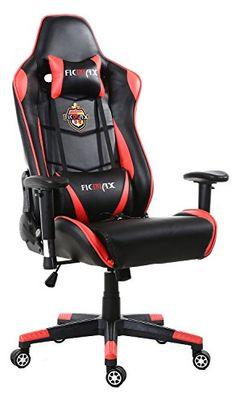 Ficmax Grande Taille Chaise de Bureau Fauteuil Pivotant Gaming Massage Cousin Lombaire inclure rouge / noir Chaise Gaming, Gaming Chair, Cousin, E Sport, Massage, Furniture, Technology, Swivel Chair, Ottomans