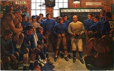 Arnold Friberg, Knute Rockne – The Coach, 1968. Private collection