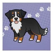 cartoon bernese mountain dog - Google Search