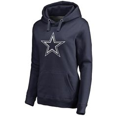 8448dc27c Women s NFL Pro Line by Fanatics Branded Navy Dallas Cowboys Primary Logo Pullover  Hoodie