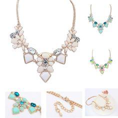 Бренд ювелирные изделия кристалл геометрический ожерелье для женщины макси ворота чокеровщика ожерелья ZD12P1C купить на AliExpress