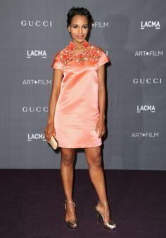Kerry Washington from Gucci LACMA Art + Film Gala Red Carpet dans Fashion Police Lab, Olivia Pope, Vetement Fashion, Kerry Washington, African Hairstyles, 90s Hairstyles, Salma Hayek, Celebs, Celebrities