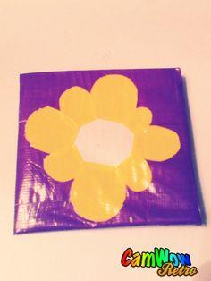duct tape flower walet by gracearndt on Etsy, $5.00
