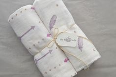 Hand stamped muslin swaddle blanket set    https://www.etsy.com/listing/289599081/muslin-swaddle-baby-blanket-set-of-two