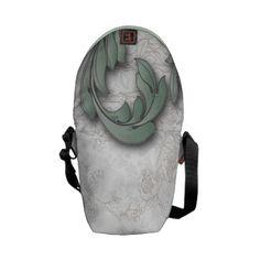 Vintage Antiqued Leaves Messenger Bags