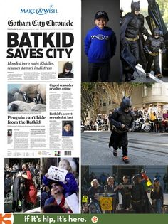 Batkid gets his wish thanks to Make-a-Wish