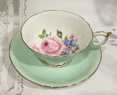 Vintage Bone China Tea Cup & Saucer - English by CupsAndRoses on Etsy