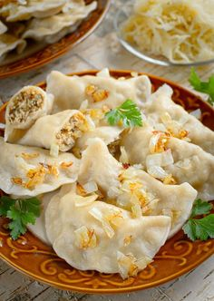 Dumplings, Finger Foods, Cauliflower, Pancakes, Cooking Recipes, Yummy Food, Meals, Vegetables, Ethnic Recipes