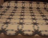 Double Wedding Ring Quilt. $475.00, via Etsy.