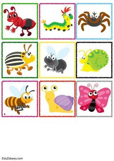 Znaczki przedszkolne – Owady Insect Clipart, Animal Activities For Kids, Monster Crafts, Mustang Boss 302, Bee Crafts, Spring Has Sprung, Bird Art, Teaching Kids, Ladybug