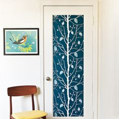 Highlight a recessed door panel. Choose small patterns for multiple panels, large ones for single panels like this. |   Photo: Erin Kunkel | thisoldhouse.com
