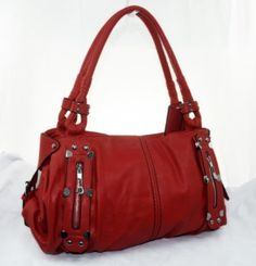 New York Hobo 210 Handbag Prada Inspired Style NYC Hobo (Red),