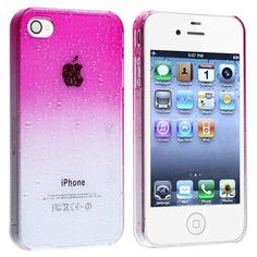 SODIAL(R) Funda para Apple iPhone 4 / 4S, Diseno de Gota de Agua…