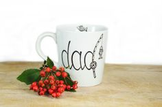 Christmas Gift for Dad Personalized Hand Painted by SylwiaGlassArt, $23.00
