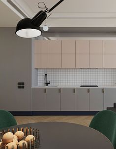 This colour rich apartment in Russia is a wonderful example of using colour and line to create an impactful and engaging interior story.