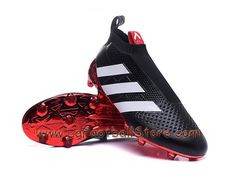 free shipping baa88 93246 Adidas Homme Football Chaussures BB4249 ACE 16+ Purecontrol Paris Pack  terrain souple Noir Rouge