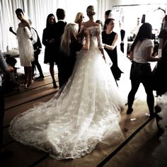 Behind the Scenes at Spring 2014 Marchesa Bridal
