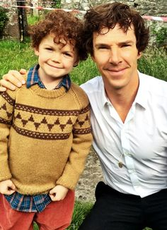 "Ugh they are so cute and the casting is on POINT << that's actually Moffat's son << that's not Moffat's son, Moffat's son was the young Sherlock in ""His last vow"""