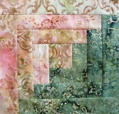 12 Block Batik Log Cabin Quilt Kit Pre Cut French Lace 11 Moda Fabric | eBay