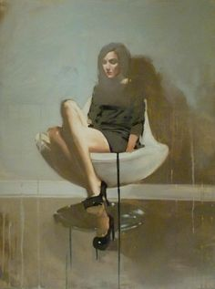 "Michael Carson  ""Overflow"" 40"" x 30"" Oil on Panel"