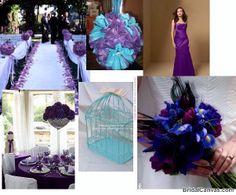 blue and purple wedding colors schemes | ... Question - What colour?!?! - MRSGLOSSOP's Purple Wedding by Color Blog