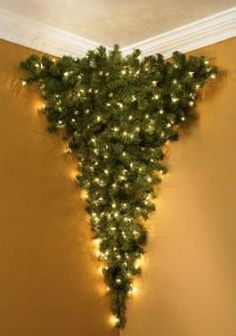 How would this be for a jumping off point of what to put in the ceiling corners? upside-down-corner-christmas-tree.jpg