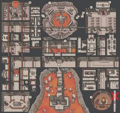 CrossheadStudios Titan Underworld BBEG Dungeon Battlemap for D&D, Dungeons and Dragons, Pathfinder, and other RPG games. Fantasy City, Fantasy Map, Dnd World Map, Rpg Map, Dnd Monsters, Dungeon Maps, D&d Dungeons And Dragons, Star Wars Rpg, Fantasy Miniatures