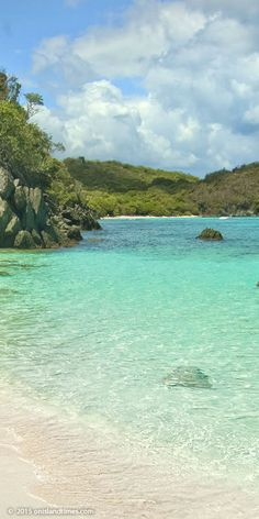 View to Jumbie Beach, St John, US Virgin Islands National Park.