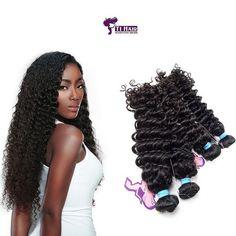 Deep Wave Hair 4 piece set Curtains at Wholesale Rate - Buy Hair Extensions, Peruvian Hair, Hair Care Tips, Virgin Hair, Cool Hairstyles, Waves, Deep, Curtains, Hair Styles