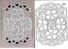 Цветы (схемы пергамано).