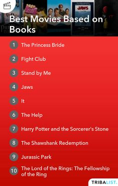 Check out this list of movies to see from Tribalist, featuring 'Fight Club', 'The Godfather', 'The Shawshank Redemption' and more. Top Movies To Watch, Good Movies, The Shawshank Redemption, Love List, The Sorcerer's Stone, Fellowship Of The Ring, Fight Club, The Godfather, Stand By Me