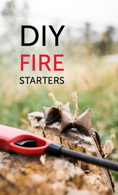 DIY fire starters made with toilet paper rolls, cotton balls and some other household items
