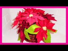 FLOR DE FIELTRO navidad, Christmas flower diy. - YouTube