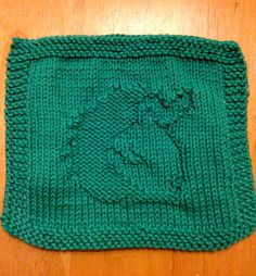 Free Knitting Pattern for Hedgehog Wash Cloth - This easy motif for a smiling hedgehog can be used on wash or dish cloths, afghans, and more. Designed by Ber Alcock-Earley Pictured project by AmyFrCh