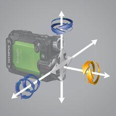 TG-Tracker to kamera stworzona do pracy w najtrudniejszych warunkach. Jest wodoodporna do 30 metrów, odporna na upadki z wysokości 2,1 metra, odporna na zgniatanie ciężarem do 100 kg, a także odporna na pył i mróz do -10°C. Jest łatwa w obsłudze, oferuje doskonałą jakość zdjęć, szeroki kąt widzenia i posiada coś, co wyróżnia ją spośród aparatów oraz kamer outdoorowych: pięć sensorów.