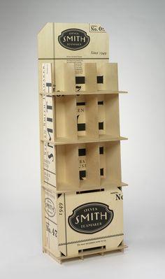 Sandstrom Partners: Steven Smith Teamaker Wooden Floor Display (EXCELLENCE: Typography)