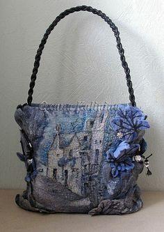 "Арт-сумка ""Полнолуние"" - полнолуние,ночь,луна,загадка,лес,листья,сказка"