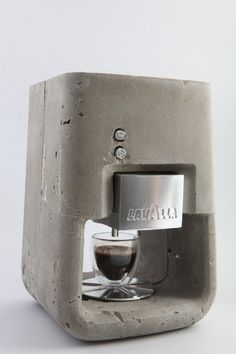 insanely awesome concrete espresso maker...maybe one I can't break...