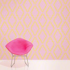 Quatrefoil Pink/Yellow Removable Wallpaper is peel and stick. It is the easiest way to decorate any room, nook or cranny. Effortlessly removed without damaging your walls or surfaces.