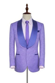 Light purple jacquard customized party suits