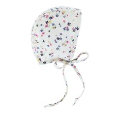 Forget-Me-Not Bonnet by Briar Handmade – Briar Bonnets. A pocket full of posies make Forget-Me-Not the most delicate floral crown. Baby bonnet handmade from Liberty of London floral cotton and lined with 100% cotton, we only use the best for this sweet necessity.