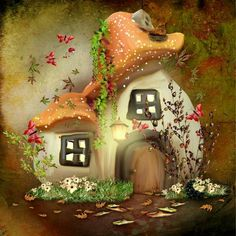 painting cross stitch Picture - More Detailed Picture about diamond Mosaic fairy tale mushroom house picture diy Diamond Painting cross stitch sets embroidery beading puzzle child gift Picture in Diamond Painting Cross Stitch from YIWU Handmade Crafts S Mushroom House, Mushroom Art, Elfen Fantasy, Fantasy Art, Cross Paintings, Background For Photography, Portrait Background, Wall Patterns, Fairy Art