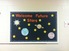 New school year outer space bulletin board