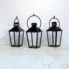 Early 20th Century French Zinc Lanterns - Decorative Collective
