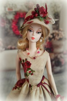 Handmade Couture Collection from France for fashion dolls Collectors. This outfit was created to fit a Silkstone Barbie doll, but fits also Baby Barbie, Barbie I, Vintage Barbie Dolls, Barbie World, Barbie Dress, Barbie And Ken, Barbie Clothes, Accessoires Barbie, Barbie Collector