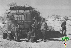 Erwin Rommel with his personal command vehicle after arriving in North Africa in 1941